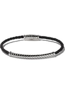David Yurman Bracelete 'Cable Classic' De Couro Com Prata - Ssbkle