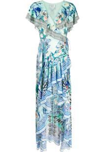 Camilla Vestido Longo Wing Of Luxor Franzido - Wings Of Luxor