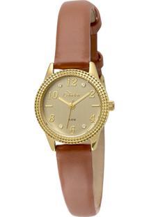 fdbc6a6d73d Okulos. Relógio Feminino Condor Analógico Com Cristais Swarovski  Co2035ksd 3d Dourado