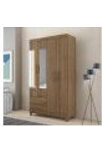 Guarda Roupa Âmbar Com 4 Portas E Espelho - Canela