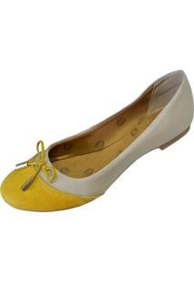 Sapatilha Scarpe Texturas Bege/Amarela