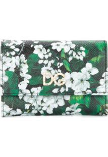 Dolce & Gabbana Carteira Floral De Couro - Preto