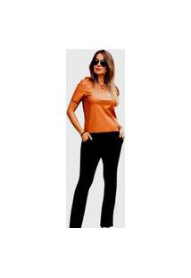 Blusa Feminina T-Shirt Bella Pitanga Marrom