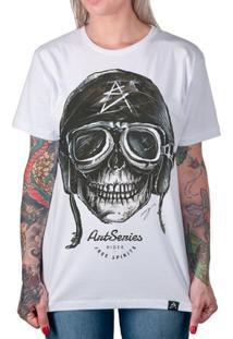 Camiseta Caveira Artseries Motoqueiro Rider Feminina - Feminino