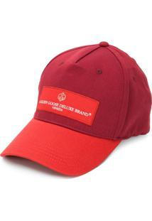 Golden Goose Chapéu Com Logo - Vermelho