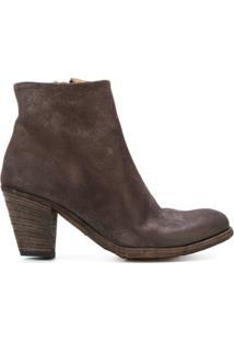 Officine Creative Ankle Boot 'Plaisir' De Couro - Marrom
