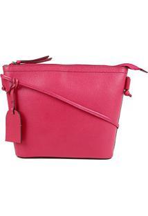 Bolsa Couro Shoestock Tote Shopper Transversal Mari Feminina - Feminino-Pink