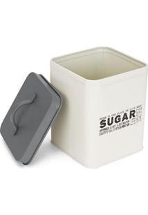 Pote Quadrado Hauskraft Para Açúcar Potq-002 Em Metal Esmaltado - 1,5 Litros