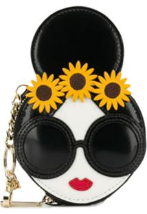 Alice+Olivia Carteira Stace Face - Preto