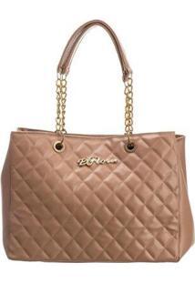 Bolsa Handbag D'Flora Alça Dupla Feminina Dia Dia Elegante - Feminino-Rosa Claro