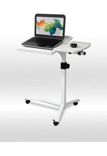 Mesa Luxo Para Notebook Altura Ajustável Tampo Reclinável Vextable Branca