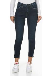 Calça Jeans Five Pockets High R B Skinny - Azul Marinho - 34