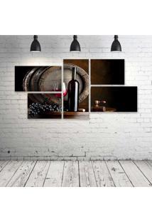 Quadro Decorativo - Wine- Composto De 5 Quadros - Multicolorido - Dafiti