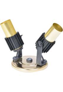 Spot Para 2 Lâmpada Aleta 190/2 Dourado 808429