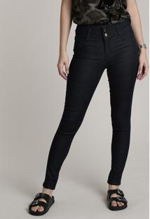 Calça Jeans Feminina Sawary Skinny Azul Escuro