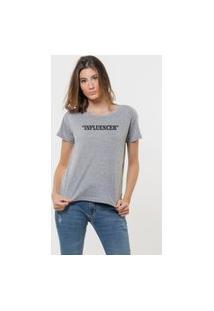 Camiseta Jay Jay Basica Influencer Cinza Mescla Dtg
