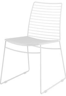 Cadeira 1712 Cor Branca Com Assento Courissimo Branco - 26434 - Sun House