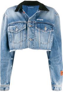 Heron Preston Jaqueta Jeans Com Efeito Vintage - Azul