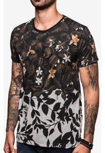 Camiseta Hermoso Compadre Foliage Mescla - Masculino-Preto