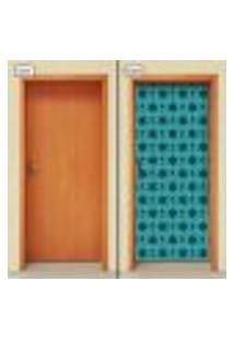Adesivo Decorativo De Porta - Flores - 1828Cnpt