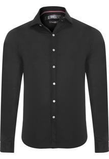 Camisa Masculina Maquinet Losango - Preto