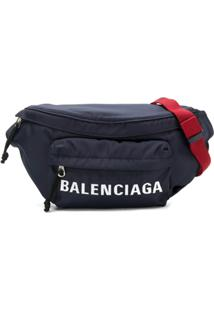Balenciaga Carteira 'Wheel Belt Pack' - Azul