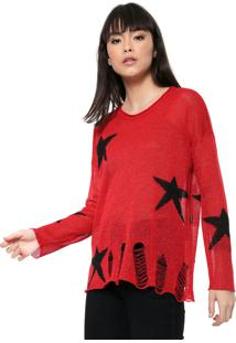 Blusa Ellus 2Nd Floor Tricot Distressesd Vermelha - Vermelho - Feminino - Dafiti