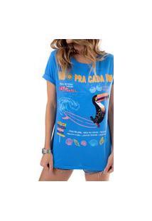T-Shirt Sol Fille Azul