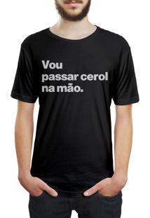 Camiseta Hunter Vou Passar Cerol Na Mão Preta