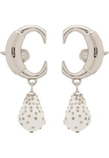 Chloé Clip-On Drop Pearl Ear Cuff - Branco
