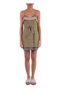 Vestido Celina Pinha Cactus/ Bambu/Pinha Off