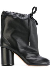 Maison Margiela Ankle Boot Com Amarração 'Tabi' - Preto