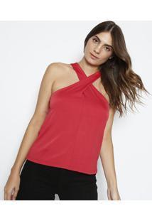 Blusa Lisa Com Vazados - Vermelha - Dudalinadudalina