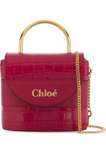 Chloé Small Aby Lock Bag - Rosa