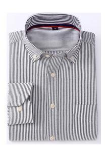 Camisa Social Masculina Nashville - Preta E Branca