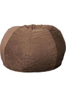 Puff Confort Maçã Suede Marrom Claro 100 Cm