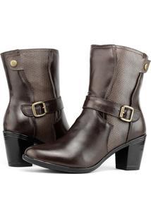 Bota Art Shoes Fivela Marrom