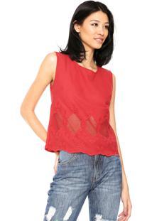 Blusa Facinelli Renda Vermelha