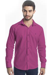 Camisa Manga Longa Tony Menswear Slim Pink