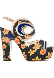 Nicholas Kirkwood Sandália Modelo 'Suzy' Floral - Estampado