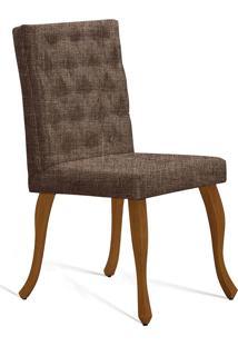 Cadeira Juliete T1072 Com Capitonê-Daf Mobiliário - Marrom
