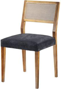 Cadeira Caiscais Encosto Em Tela Cor Nogal - 37383 Sun House