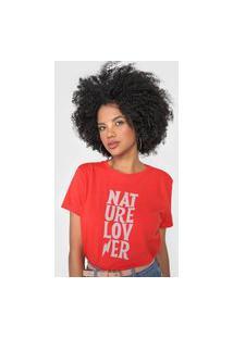 Camiseta Cantão Nature Lover Vermelha