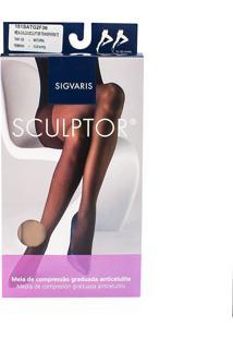 Meia Calça Anticelulite Sigvaris Sculptor 15-20Mmhg G (Tamanho Grande) Longo (G2) Cor Natural Ponteira Fechada