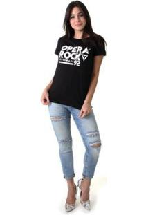 Camiseta Opera Rock 92 Feminina - Feminino-Preto
