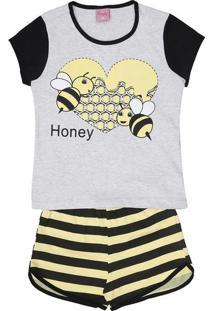 "Short Doll ""Honey""- Preta & Amarelaevanilda"