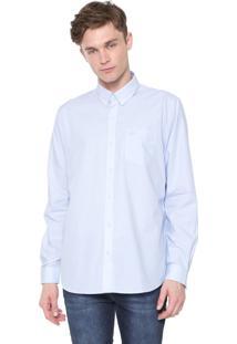 Camisa Lacoste Regular Quadriculada Azul/Branca