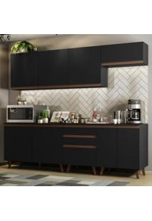 Cozinha Completa Madesa Reims 250001 Com Armário E Balcão - Preto