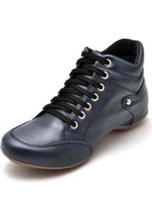 Bota Clube Do Sapato De Franca Top Confort 1 Lisa Feminina - Feminino-Azul