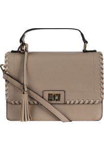 Bolsa Mão E Transversal Hand Bag Costura (Caqui, Único)